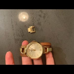 Fossil Watch - Leather and Gold